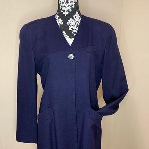CHRISTIAN DIOR Navy Women's Blazer Size 8